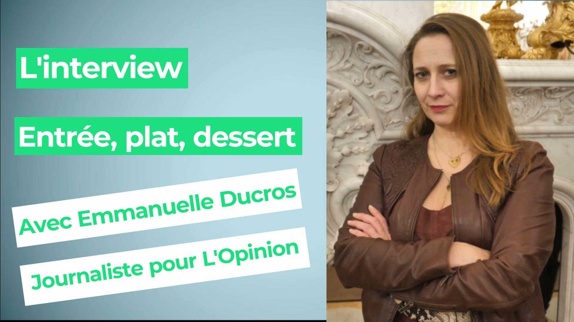 Emmanuelle Ducros, journaliste :