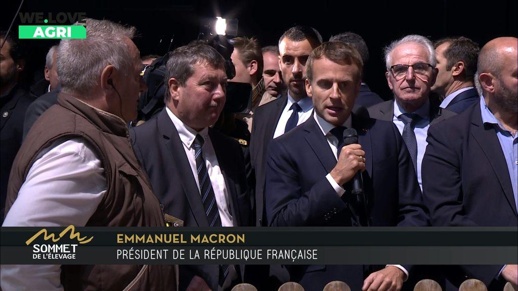 Visite du Président Macron au Sommet de l'Elevage